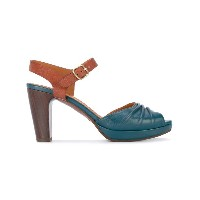 Chie Mihara - panel mid heel sandals - women - レザー/Foam Rubber - 36