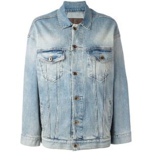 Roberto Cavalli - star denim jacket - women - コットン/スパンデックス - 44