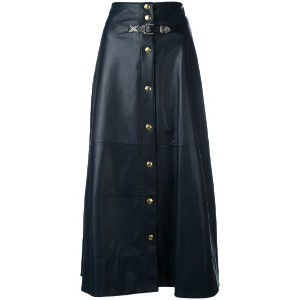 Sonia Rykiel - buttoned maxi skirt - women - ラムスキン/ビスコース - 38