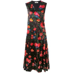 Céline Vintage - floral print dress - women - シルク/Vegetable Fibres - 38