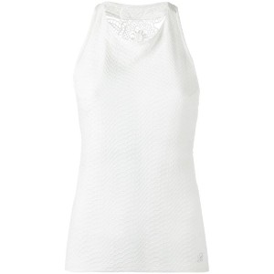 Blumarine - leaf back halterneck top - women - ポリアミド/スパンデックス - 46
