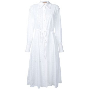 Flow The Label - drawstring shirt dress - women - コットン - S