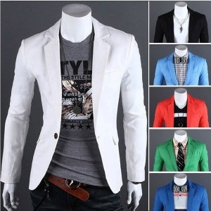 Fashion mens wear leisure suit men single-breasted suit 8661(size S/M/L/XL)