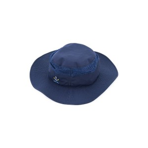 Familiar - anchor embroidery sun hat - kids - ナイロン - 48 cm