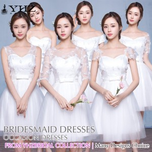 Ivy White Knee-Length Occasion Dress Graduation Dresses White Casual Dresses Party and Cocktail Dres