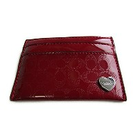 Coach コーチ カードケース パーフォレーテッド リキッドグラス 62405 レッド【新品】COACH Perforated Embossed Liquid Gloss Card Case ...
