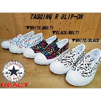 ♪CONVERSE ALL STAR TAGGING R SLIP-ON▼WHITE/MULTI(1CK073)・BLACK/MULTI(1CK074)・WHITE/BLACK(1CK075)...