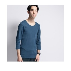 baby rib loose neck 3/4 sleeve tee【ベース ステーション/BASE STATION Tシャツ・カットソー】