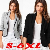 Women OL Business Blazer Suit Long Sleeve Casual Tops Slim Jacket Coat Outwear