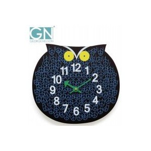 George Nelson ジョージ・ネルソン 壁掛け時計 Zoo Timer Clock フクロウ GN901 1006575