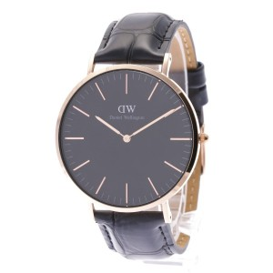 【SALE 35%OFF】ダニエル ウェリントン Daniel Wellington CLASSIC BLACK Reading Rose gold 40mm (BLACK)