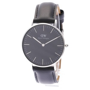【SALE 35%OFF】ダニエル ウェリントン Daniel Wellington CLASSIC BLACK Sheffield Silver 36mm (BLACK)