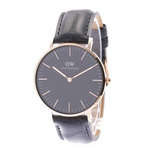 【SALE 35%OFF】ダニエル ウェリントン Daniel Wellington CLASSIC BLACK Reading Rose gold 36mm (BLACK)