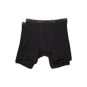 ジョッキー Jockey メンズ インナー ブリーフ【Staycool Plus Big Man Midway Brief】Black