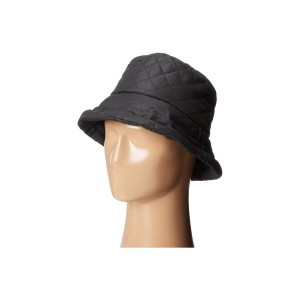 スカラ SCALA レディース 帽子 ハット【Quilted Rain Bucket Hat w/ Fleece Lining】Black