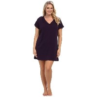 ジョッキー Jockey レディース インナー パジャマ【Jockey Cotton Essentials Plus Size Sleepshirt】Eggplant