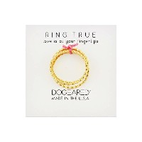 ドギャード Dogeared レディース アクセサリー 指輪【The Circle Thin Multi Circle Rings Set of 3】Gold Dipped