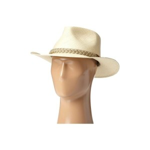 スカラ SCALA メンズ 帽子 ハット【Panama Outback Hat with Braided Jute Band】Natural