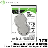 【送料無料】SEAGATE(シーゲート) ST1000LM048 [BarraCuda(1TB HDD 2.5インチ 7mm SATA 6G 5400rpm 128MB)]