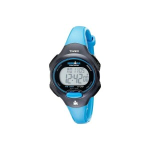 タイメックス Timex レディース アクセサリー 腕時計【Sport Ironman Blue and Black Mid Size 10 Lap Watch】Black/Blue