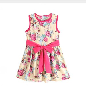 Dress For The New Year Girls Summer Style Flower Princess Dress New Kids Clothes Formal Sleeveless