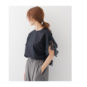 DOORS mizuiro-ind asymmetry point lace pullover【アーバンリサーチ/URBAN RESEARCH シャツ・ブラウス】