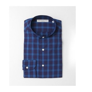 DOORS LIFE STYLE TAILOR CHECK NO COLLAR SHIRTS【アーバンリサーチ/URBAN RESEARCH シャツ・ブラウス】