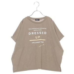 【SALE 10%OFF】コムサイズム COMME CA ISM プリント入りチュニックTシャツ (カーキ)