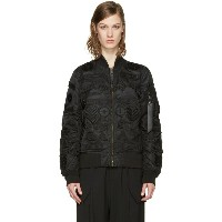 マルセロバーロン Marcelo Burlon County of Milan レディース アウター ジャケット【Black Alpha Industries Edition Roldan MA-1...