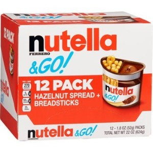 nutella & GO! Hazelnut Spread + Breadsticks 52gx12パック ヌテラ