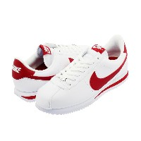 NIKE CORTEZ BASIC LEATHER ナイキ コルテッツ ベーシック レザーWHITE/GYM RED