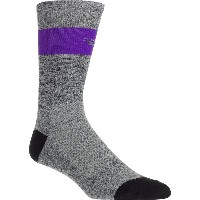 ディフィート メンズ 靴下 アンダーウェア DeFeet Aireator SL 7in Sock Grey Heather/Purple Stripe