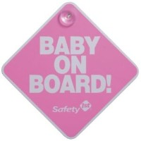 Safety 1st Baby On Board Sign - Color: Pink by Safety 1st