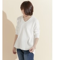 DOORS FORK&SPOON Waffle Thermal V-neck【アーバンリサーチ/URBAN RESEARCH レディス Tシャツ・カットソー OFF ルミネ LUMINE】