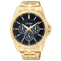 シチズン Citizen AG8342-52L Men's Quartz Gold Tone Multifunction Blue Dial Watch 男性 メンズ 腕時計 【並行輸入品】