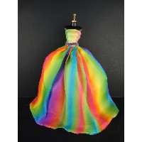 バービー 着せ替え用ドレス/服 Rainbow (Stunning Rainbow Inspired Barbie Sized Doll Gown Made to Fit the Barbie...