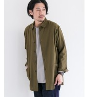 DOORS Cotton Linen Utility Shirts Coat【アーバンリサーチ/URBAN RESEARCH ノーカラーコート】