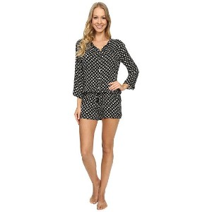 P.J. Salvage Ikat Dot Challe Romper