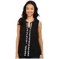 Dylan by True Grit Folklore Tunic w/ Natural Jute Embroidery