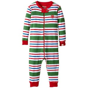 【ポイント2倍!6/22 1:59まで】Hatley Kids Holiday Stripe Sleepy Romper (Infant)
