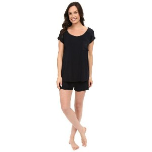 Midnight by Carole Hochman Shorty PJ with Matte Satin
