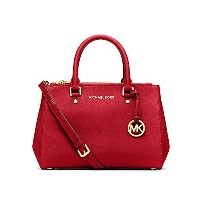 MICHAEL KORS SUTTON SMALL SAFFIANO LEATHER SATCHEL RED [並行輸入品]