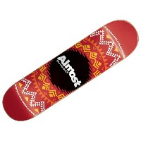 【オールモスト デッキ】ALMOST Deck GEO AZTEC RED 7.75x31.2