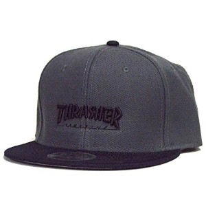 スラッシャー THRASHER 17TH-C30T MAG LOGO SNAPBACK CAP(CHARCOAL BLACK)