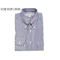 INDIVIDUALIZED SHIRTS(インディビジュアライズド シャツ)/L/S STANDARD FIT B.D. BENGAL STRIPE SHIRTS/navy