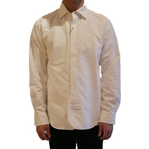 NIGEL CABOURN ナイジェルケーボン 17S/S BRITISH OFFICERS SHIRT OXFORD OFF WHITE