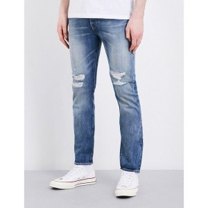 リーバイス levi's メンズ ボトムス ジーンズ【501 distressed skinny-fit mid-rise jeans】Bad boy