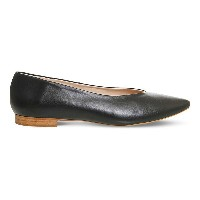 オフィス office レディース シューズ・靴 フラット【poison point leather ballet flats】Black leather