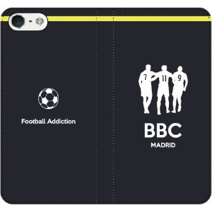 iPhone/Xperia/Galaxy/Android選択可:サッカーシルエット手帳ケース(アウェイ/マドリード_BBC_A) iPhone7Plus用