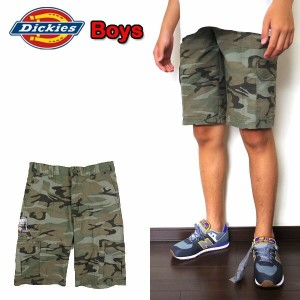 ディッキーズ キッズ ハーフパンツ DICKIES KR416 BOYS RELAX FIT CAMO RIPSTOP SHORT